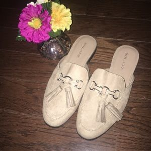 NWOT Sueded with Tassels / slide-on shoes